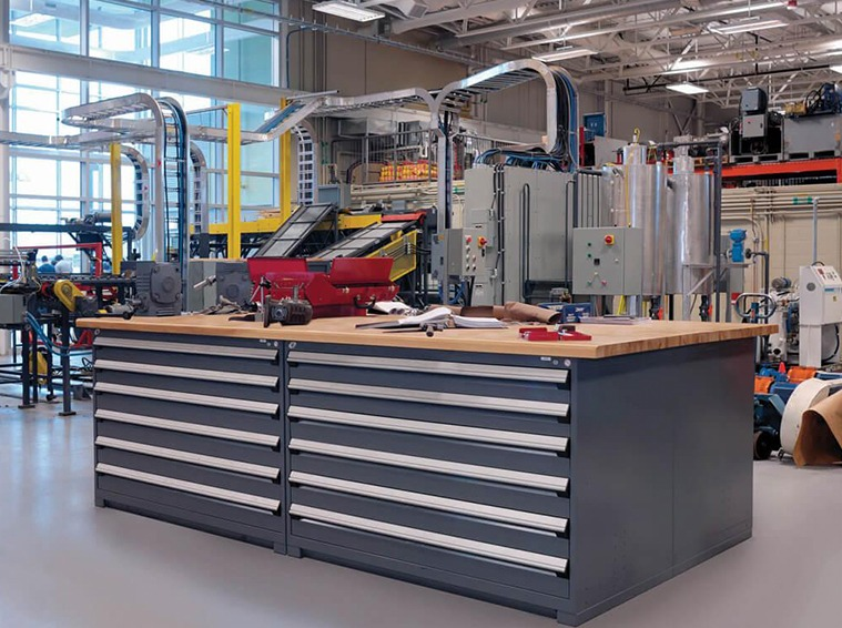 Workbenches Provide Extra Space And Storage